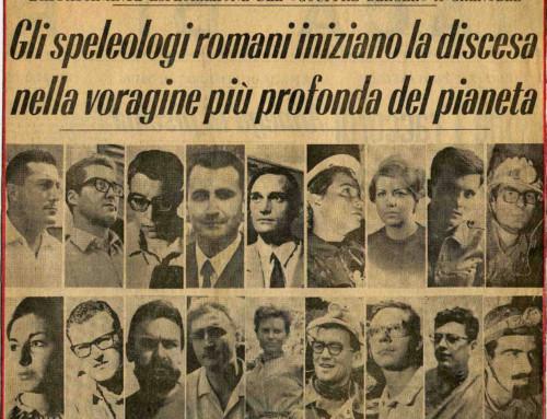 STORIA DELLO SPELEO CLUB ROMA – SPEDIZIONE AL GOUFFRE BERGER AGOSTO 1967 (di Antonio Mariani)